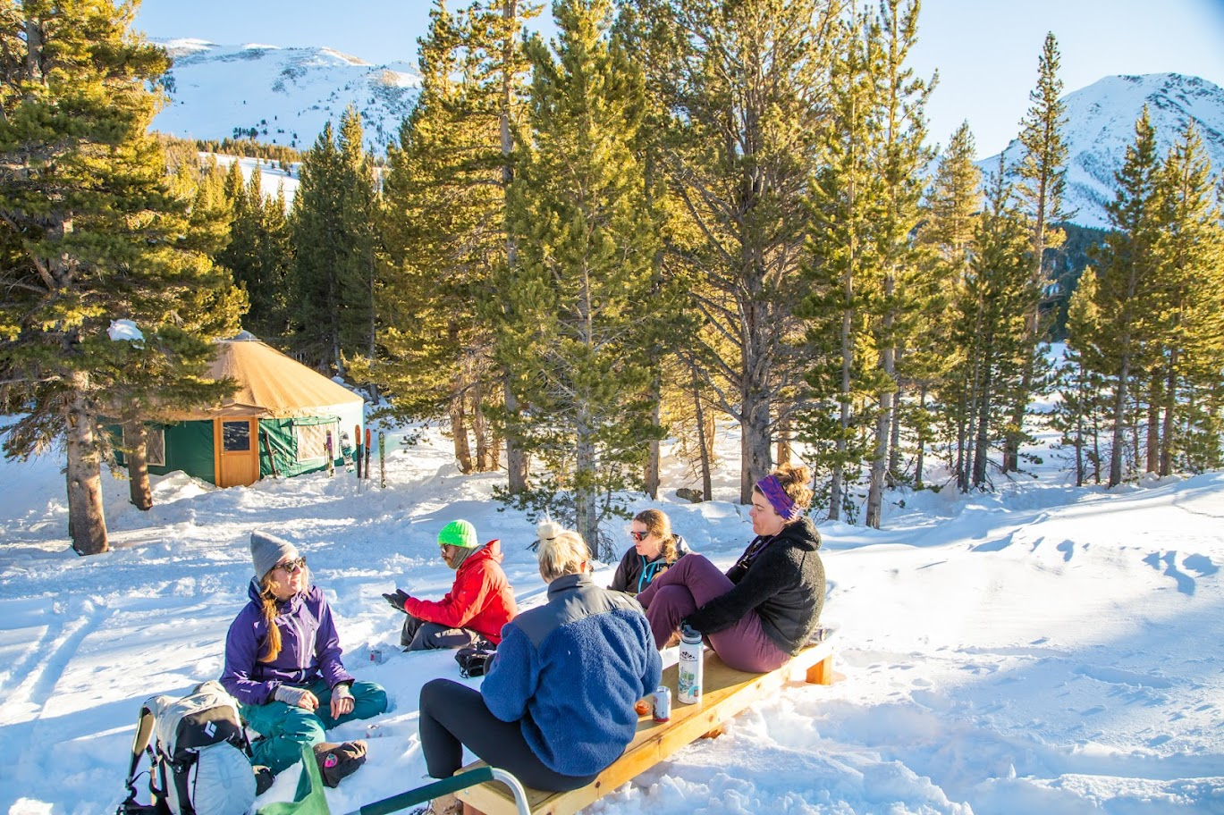 Hanging out at the Backcountry Yurt in the Eastern Sierra