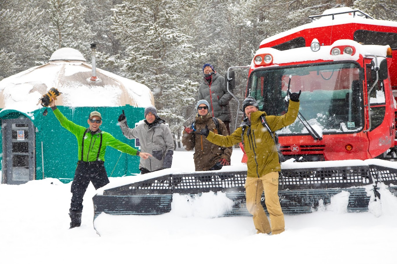 Clients stoked about High Sierra snowcats