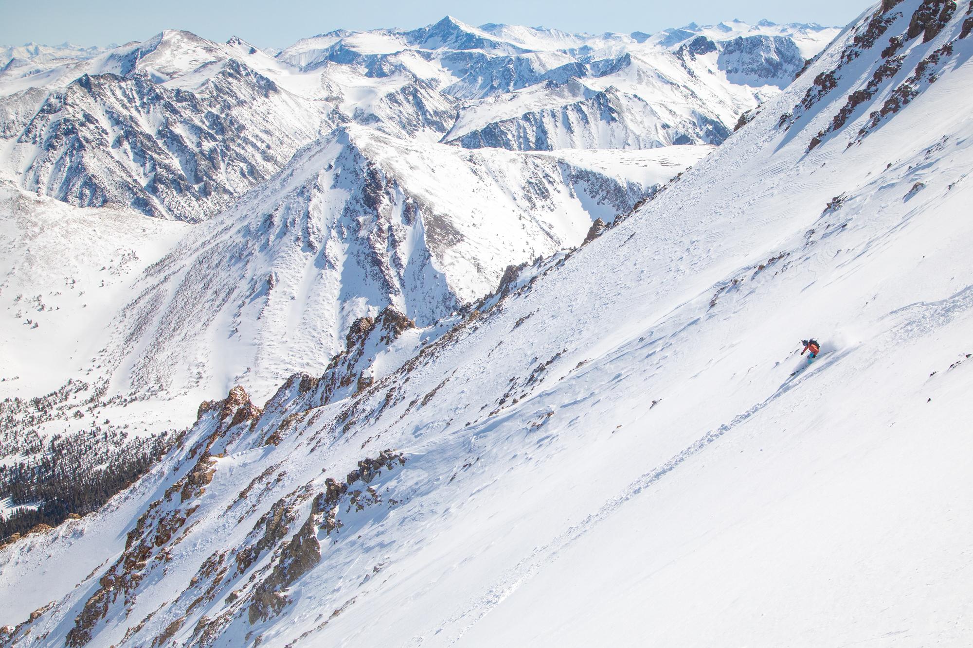 big mountain line off black peak